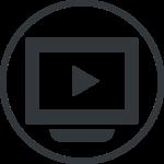 ストリーミングライブ配信のアイコン