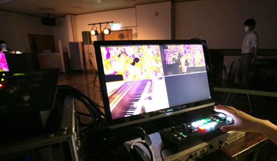 ライブストリーミング映像機材画像